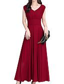 hesapli Romantik Dantel-Kadın's Boho Çan Elbise - Solid Maksi