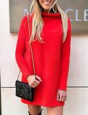 povoljno Poslovne haljine-Žene Osnovni Pletivo Haljina Jednobojni Iznad koljena