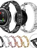 זול להקות Smartwatch-עבור garmin forerunner 645/245 / vivomove hr / vivoactive 3 שעון חכם רצועת שעון נירוסטה