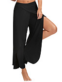 hesapli Kadın Pantolonl-Kadın's Temel Bot Kesim Pantolon - Solid Siyah Koyu Gri Şarap XXXL XXXXL XXXXXL
