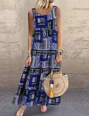 זול שמלות נשים-מקסי קולור בלוק - שמלה סווינג בגדי ריקוד נשים