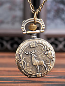 Недорогие Карманные часы-Муж. Карманные часы Кварцевый Старинный Творчество Новый дизайн Аналого-цифровые Винтаж - Бронзовый
