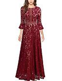 hesapli Maksi Elbiseler-Kadın's A Şekilli Elbise - Solid Maksi