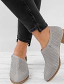billige Bluser-Dame Flate sko Flat hæl Rund Tå Netting Sommer Svart / Grønn / Rosa