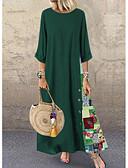 povoljno Maxi haljine-Žene A kroj Haljina Cvjetni print Maxi