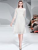 זול תחרה רומטנית-גזרת A עם תכשיטים באורך  הברך תחרה שמלה לאם הכלה  עם תחרה על ידי LAN TING Express