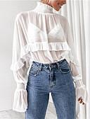 hesapli Tişört-Kadın's Bluz Solid Siyah
