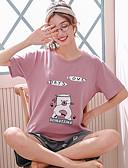 abordables Pijamas-Mujer Traje Ropa de dormir Rosa XL XXL XXXL