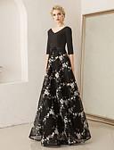 hesapli Gelin Annesi Elbiseleri-A-Şekilli V Yaka Yere Kadar Splandeks / Dantelalar Nakış ile Resmi Akşam Elbise tarafından LAN TING Express