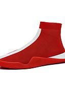 hesapli Erkek Kazakları ve Hırkaları-Erkek Ayakkabı Tissage Volant Yaz / Sonbahar Sportif / Günlük Spor Ayakkabısı Yürüyüş Günlük / Dış mekan için Siyah / Beyaz / Kırmzı