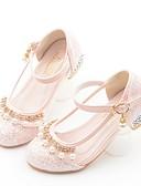 povoljno Haljine za djevojčice-Djevojčice Mikrovlakana Cipele na petu Mala djeca (4-7s) Obuća za male djeveruše Biser Obala / Bijela / Plava Jesen