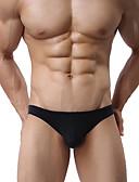 hesapli Egzotik Erkek İç Giyimi-Erkek Normal Donlar - Temel Orta Bel Siyah Beyaz Fuşya S M L