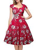 povoljno Vintage kraljica-Žene Vintage Swing kroj Haljina Sažetak Midi