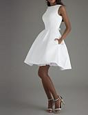 זול שמלות קוקטייל-גזרת A סירה רחב באורך  הברך פוליאסטר גב פתוח מסיבת קוקטייל שמלה עם פפיון(ים) על ידי LAN TING Express