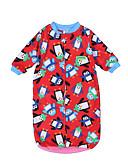 povoljno The Freshest One-Piece-Dijete Djevojčice Geometrijski oblici / Print Sleepwear Svjetloplav