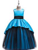 זול שמלות לילדות פרחים-נסיכה אורך בינוני שמלה לנערת הפרחים  - פולי / פוליאסטר / כותנה / טול ללא שרוולים עם תכשיטים עם עיצוב פרפר / חרוזים / שכבות על ידי LAN TING Express