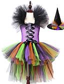 זול שמלות לבנות-בנות ליל כל הקדושים שמלת טוטו מכשפה קשת נגררת טול ילדים קרנבל קוספליי ילדי מפואר כדור שמלת שמלת תלבושות