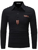 povoljno Majica s rukavima-Polo Muškarci - Posao / Elegantno Dnevno / Rad Jednobojni Crn