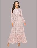 povoljno Maxi haljine-Žene Sofisticirano Elegantno Šifon Swing kroj Haljina - Kolaž Print, Geometrijski oblici Maxi