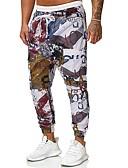 זול טישרטים לגופיות לגברים-בגדי ריקוד גברים בסיסי / סגנון רחוב צ'ינו / מכנסי טרנינג מכנסיים - אחיד / פסים קשת US34 / UK34 / EU42 US36 / UK36 / EU44 US38 / UK38 / EU46