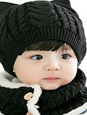 זול ילדים כובעים ומצחיות-מידה אחת שחור / יין / ורוד מסמיק כובעים ומצחיות כותנה / סריג רומי מסוגנן / סריגה אחיד פעיל / בסיסי / מתוק בנים / בנות ילדים / פעוטות