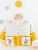 povoljno Vanjska odjeća za bebe-Dijete Djevojčice Aktivan Print Dugih rukava Pamuk Jakna i kaput Obala / Dijete koje je tek prohodalo