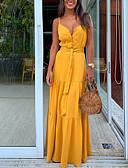 povoljno Ženske haljine-Žene Elegantno A kroj Haljina Jednobojni Maxi