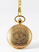 Недорогие Карманные часы-Муж. Карманные часы Кварцевый Старинный Золотистый Творчество Новый дизайн Повседневные часы Аналого-цифровые Винтаж - Золотой