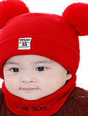 זול ילדים כובעים ומצחיות-מידה אחת ורוד מסמיק / צהוב / פול כובעים ומצחיות כותנה / סריג רומי מסוגנן / סריגה אחיד / מספר פעיל / בסיסי / מתוק בנים / בנות ילדים / פעוטות