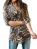 billige Bluser-Skjorte Dame - Leopard Grunnleggende / Gatemote Brun