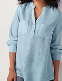 ieftine Bluză-Pentru femei Bluză Mată Negru