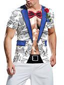 זול טישרטים לגופיות לגברים-3D בסיסי חולצה - בגדי ריקוד גברים קשת