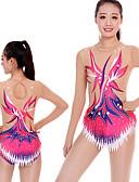 povoljno Teretana-Triko za ritmičku gimnastiku Trikoi za ritmičku gimnastiku Žene Djevojčice Triko za vježbanje Blushing Pink Visoka elastičnost Ručno izrađen Izgled dijamanta Sjenčanje Dugih rukava Natjecanje
