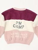 povoljno Džemperi i kardigani za djevojčice-Djeca Djevojčice Osnovni Color block Dugih rukava Džemper i kardigan Svjetloplav