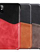 זול מגנים לאייפון-נרתיק עור אמיתי בצבע אחיד עבור apple iphone xr xs מקסימום 8 בתוספת 7 בתוספת 6 s בתוספת כריכה אחורית של בעל כרטיס