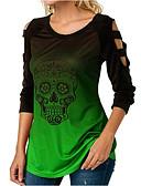 povoljno Majica s rukavima-Majica s rukavima Žene Dnevno Lubanje Svjetloplav