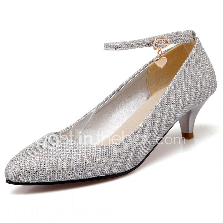 Zapatos plateado de primavera oficinas para mujer YMBORynqG