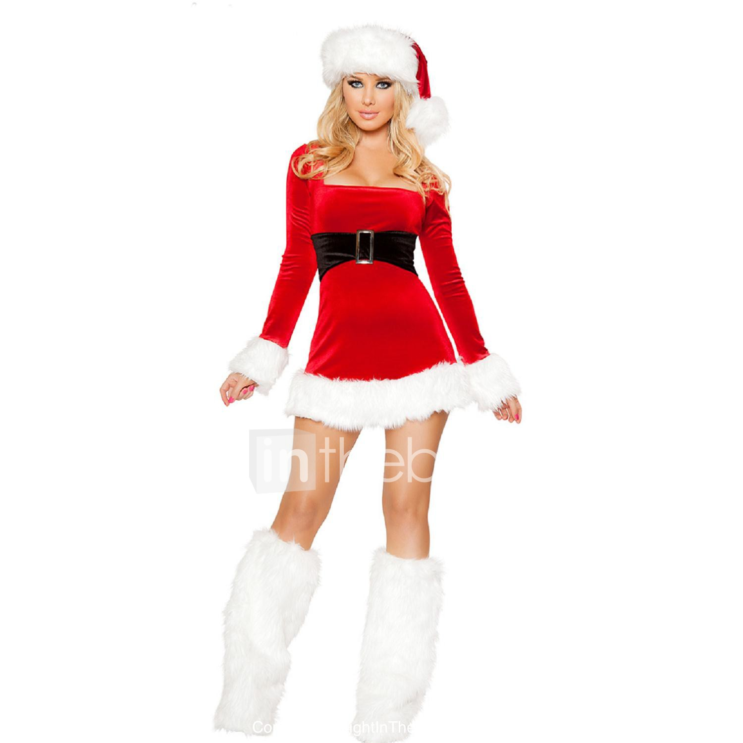 5622c5d3ae75a Mrs.Claus Cosplay Costume / Santa Clothes Christmas Women's Red Terylene  Cosplay Accessories Christmas / Carnival Costumes