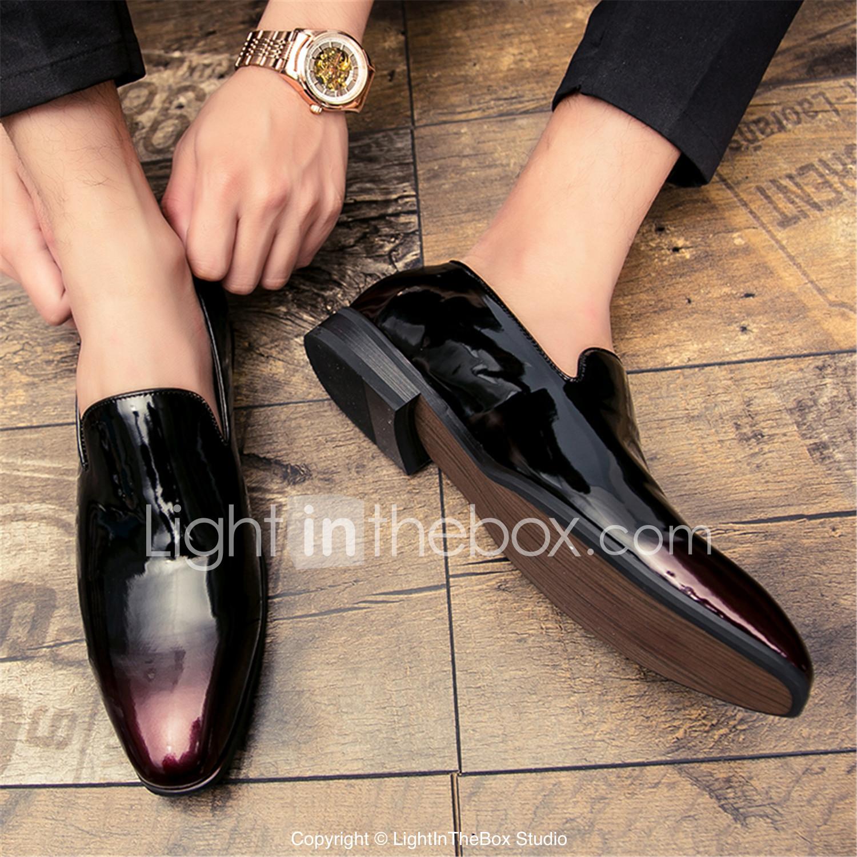 ecdd834da27 Pánské Společenské boty Lakovaná kůže Podzim Oxfordské Černá   Stříbrná    Červená   Party   Party