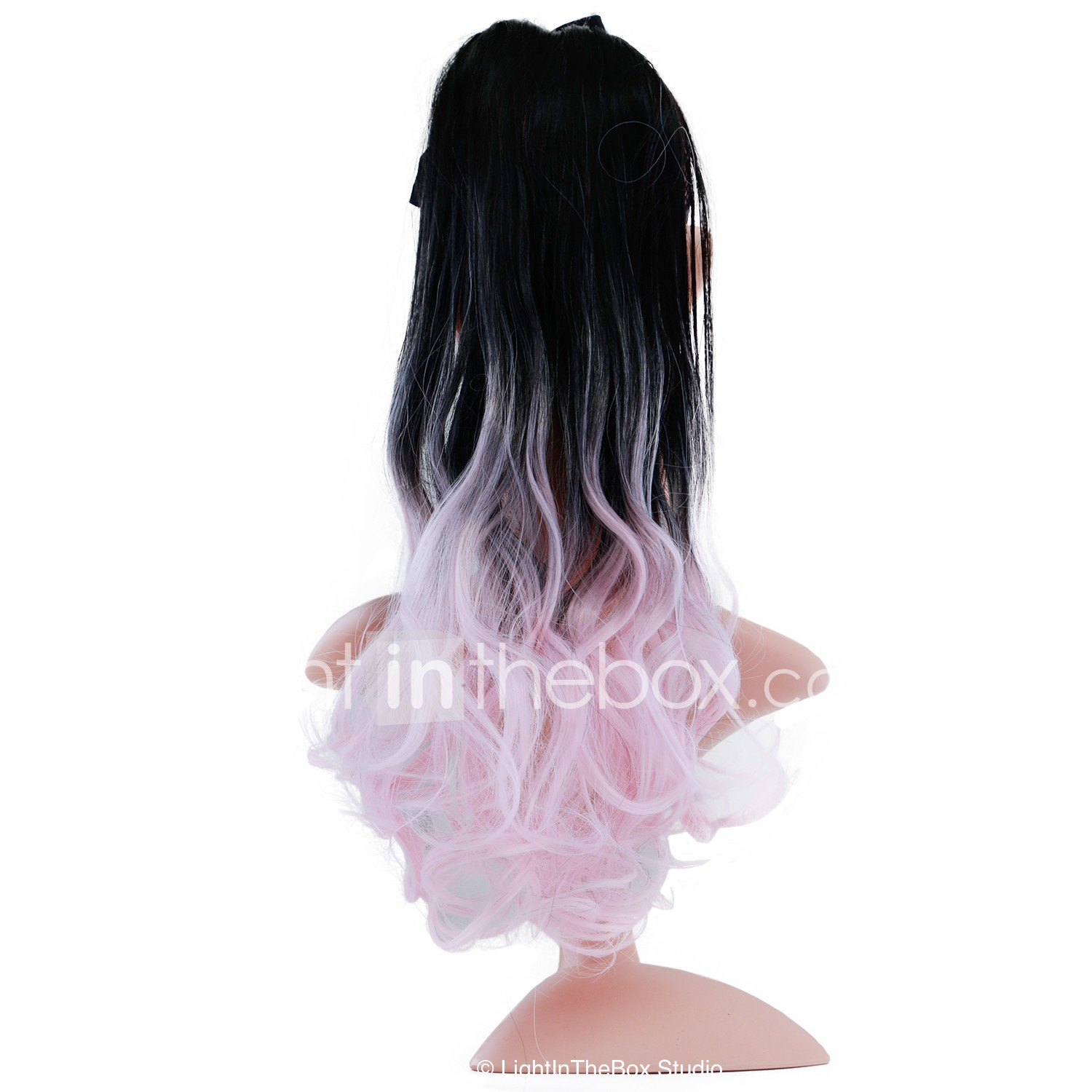 drawstring ponytails tie up synthetic hair hair piece hair extension