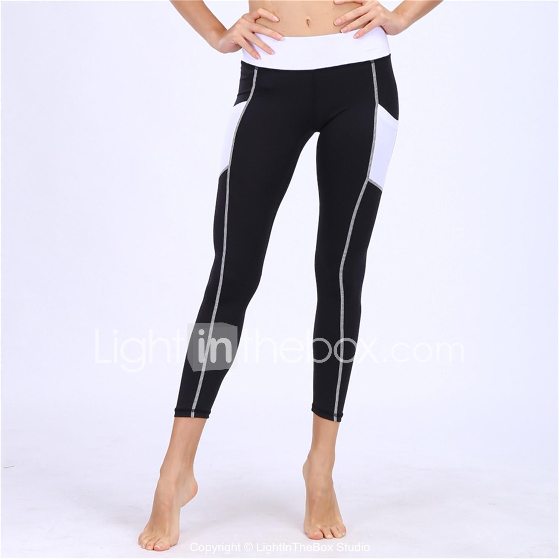 0cc0ec2fd1735 BARBOK Mujer Bolsillo Pantalones de yoga Negro Deportes Moda Elastán Medias    Mallas Largas Leggings Zumba