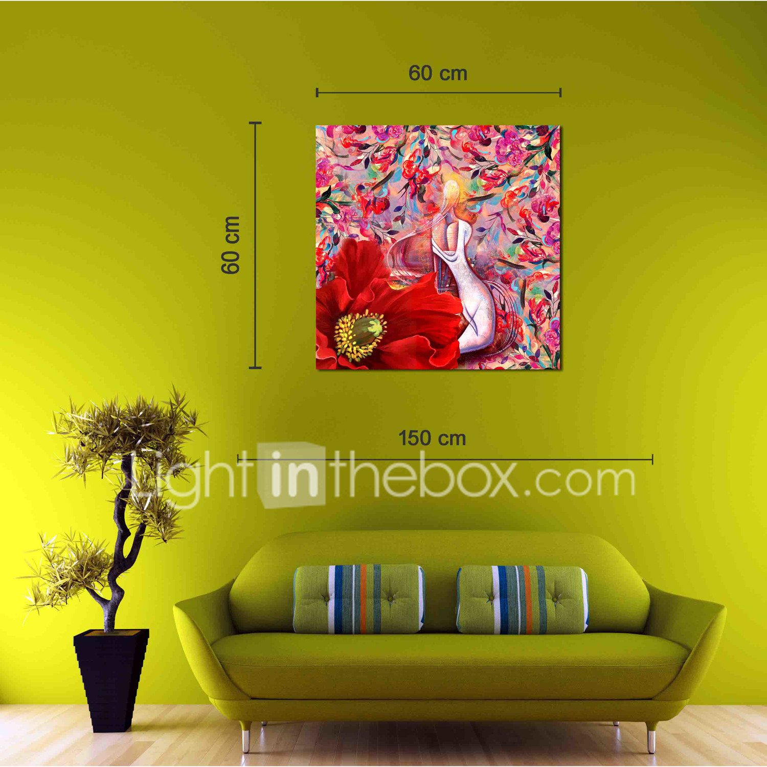 stretched canvas prints traditional, one panel canvas square print ...