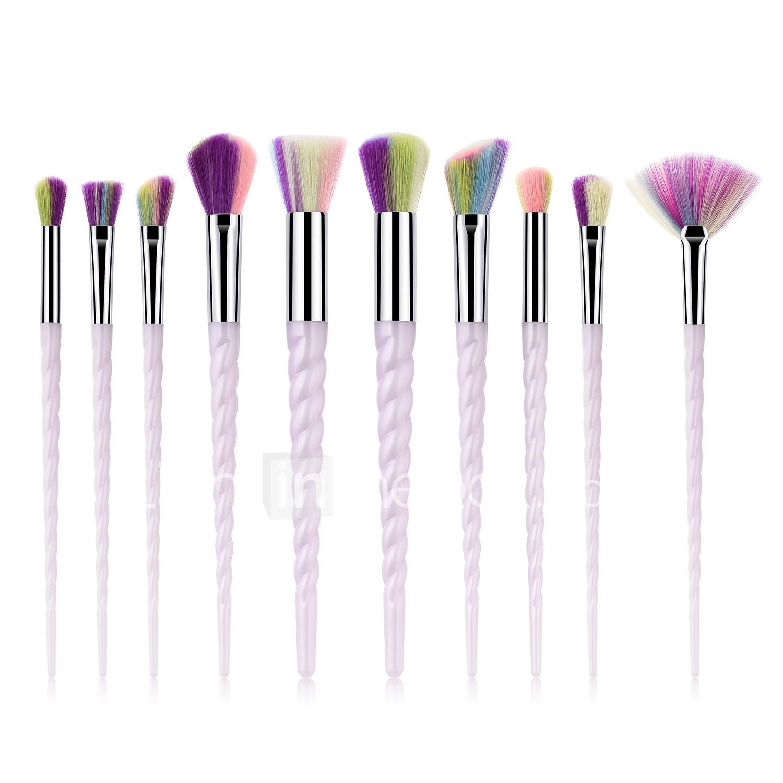 10pcs Makeup Brushes Professional Body Care / Blush Brush / Eyeshadow Brush Nylon fiber Full Coverage