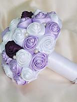 Cheap Wedding Flowers Bouquets Foam Satin 709quotApprox18cm