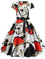 Χαμηλού Κόστους Γυναικεία Φορέματα-Γυναικεία Βασικό Θήκη Φόρεμα -  Γεωμετρικό Πάνω από το Γόνατο 4aff253f758