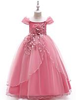 36a51cfe6d2 Недорогие Детские праздничные платья-Принцесса Длинный Детское праздничное  платье - Кружева   Тюль С короткими