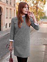 Χαμηλού Κόστους Γυναικεία Φορέματα-Γυναικεία Κομψό στυλ street Θήκη Φόρεμα  - Συνδυασμός Χρωμάτων   Τετράγωνο 594598ead1c