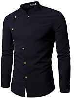 Недорогие Мужские рубашки-Муж. Рубашка Классический Однотонный 660cb5bd971d5