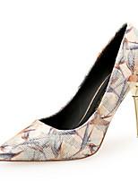 f4c8ec1c127b billige Højhælede sko til damer-Dame Syntetisk Forår sommer Sød Hæle  Stilethæle Spidstå Bjergkrystal Hvid