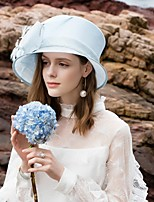 7bc8e2bf58d6c cheap Party Headpieces-Flax Hats with Feather 1pc Wedding   Party   Evening  Headpiece